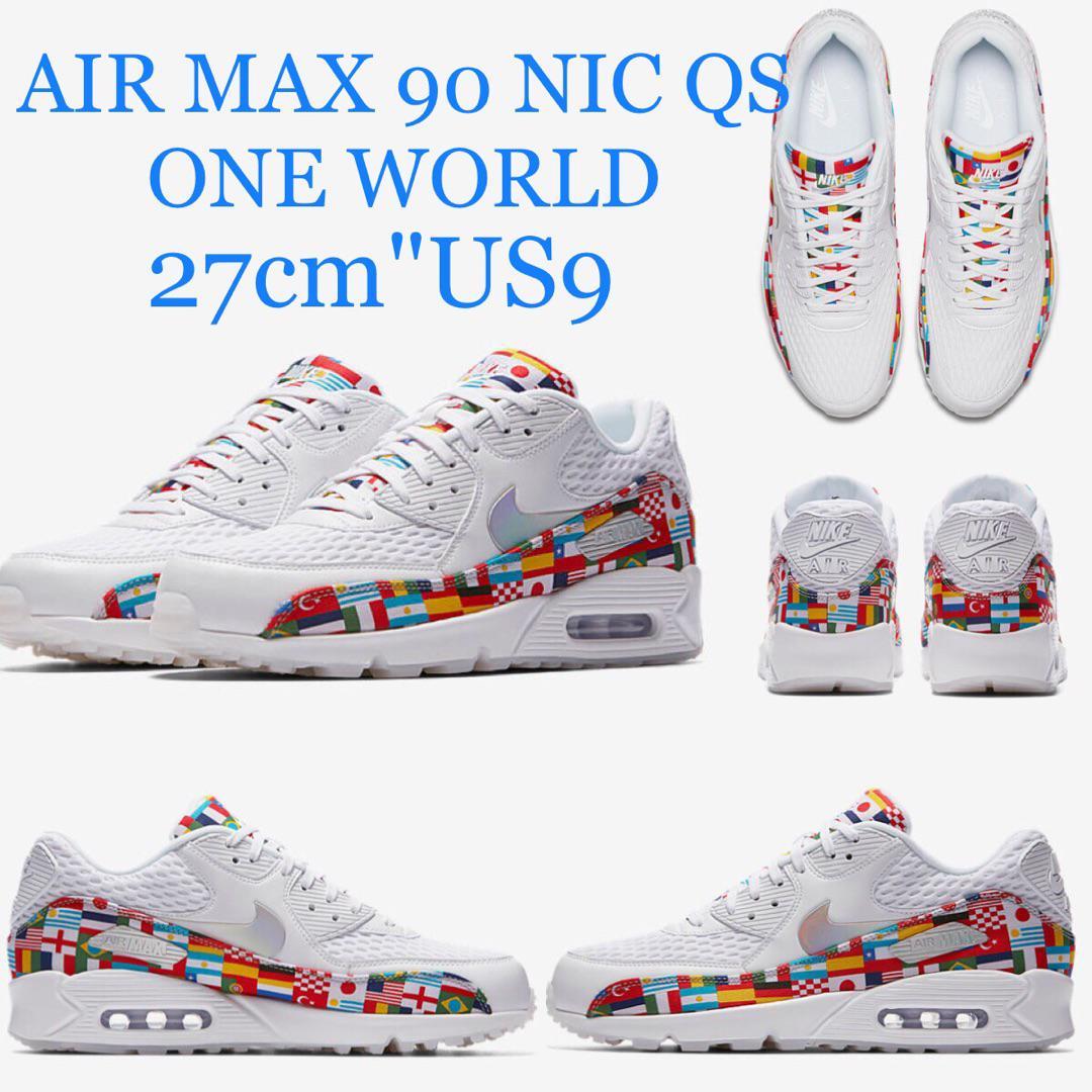 1ad3242e76 メルカリ - NIKE AIR MAX 90 NIC QS ONE WORLD 27cm 新品 【スニーカー ...