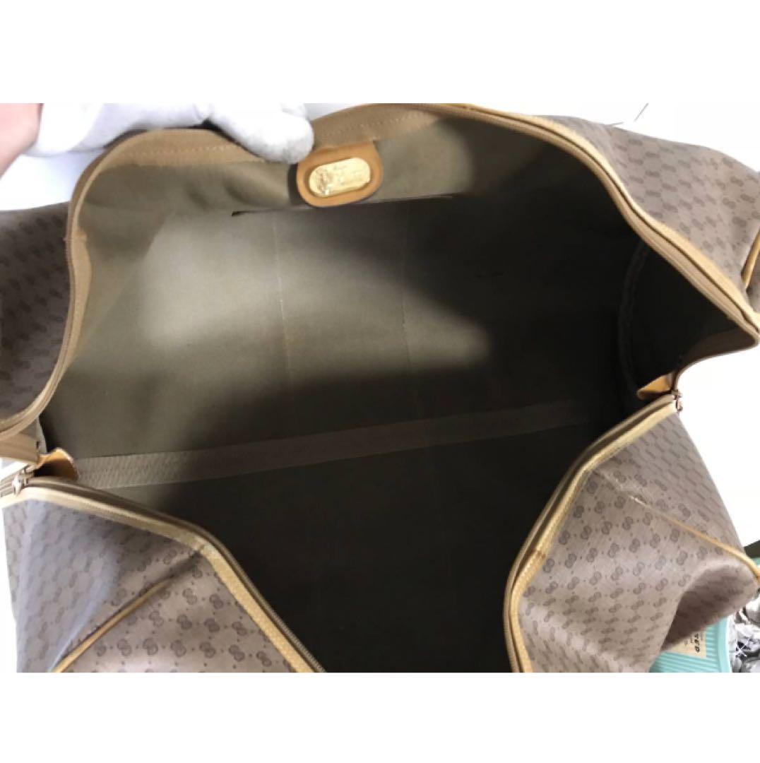 b10aa8ebb522 メルカリ - 本物オールドグッチGUCCIレザーGG柄デカビッグボストンバッグ ...