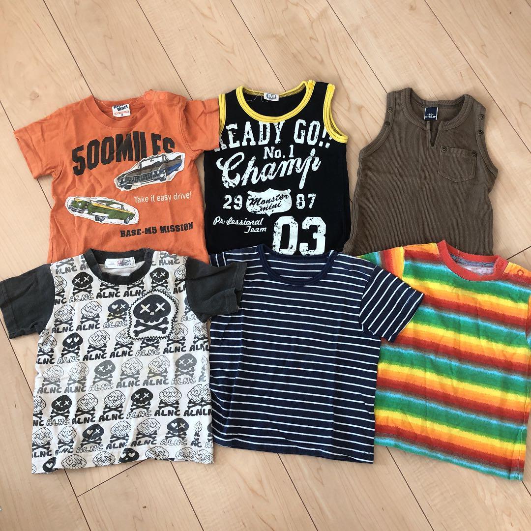 84f873b793143 メルカリ - Tシャツ 男の子 まとめ売り 6枚セット  トップス  (¥800 ...