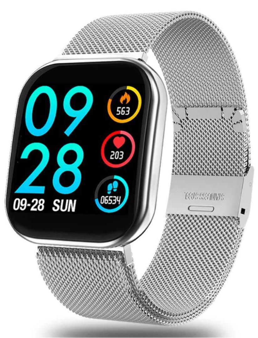 メルカリ スマートウォッチ フルタッチ スマートブレスレット スクリーンタッチ 腕時計 デジタル 4 980 中古や未使用のフリマ