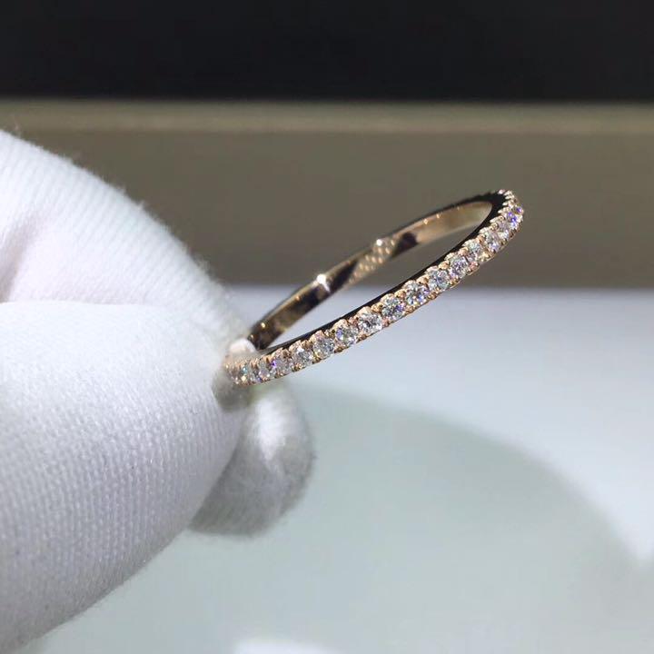 エタニティ モアサナイト ダイヤモンド リング k18PG