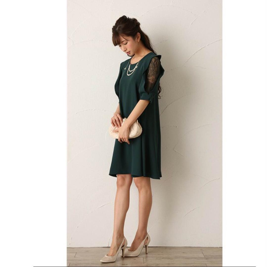 35d9b3a0f80d2 メルカリ - ワンピース お呼ばれ 結婚式 二次会 グリーン 深緑 緑 モス ...