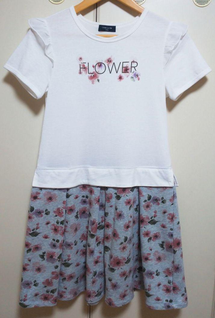 3c51c05bb3995 メルカリ - コムサイズム キッズ 女の子 ワンピース 150 半袖 Tシャツ ...