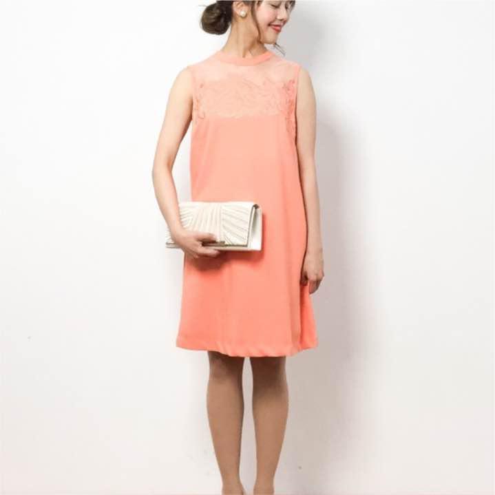リリーブラウン、ドレス、オレンジ、結婚式、刺繍(¥8,500) , メルカリ スマホでかんたん フリマアプリ