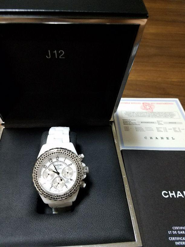41e3fc18b876 メルカリ - CHANEL J12 41ミリ アフターブラックダイアベゼル 美品 ...