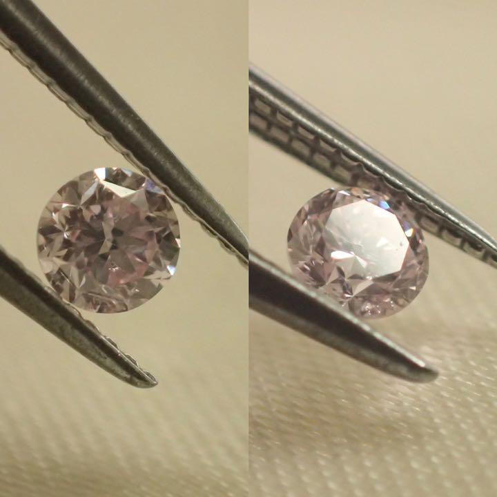 【ソーティング付】0.098ct ピンクダイヤ ダイヤモンド カラーダイヤ
