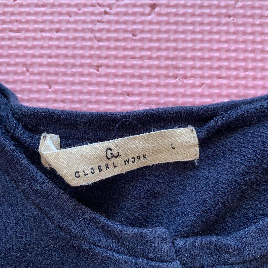 3b7c4af4390e3 メルカリ - グローバルワーク お花の刺繍カーディガン L 紺 【トップス ...