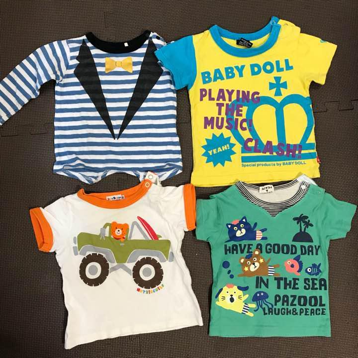 1c91bbc92f073 メルカリ - 子供服 まとめ売り 80cm Tシャツ 8枚  トップス  (¥1
