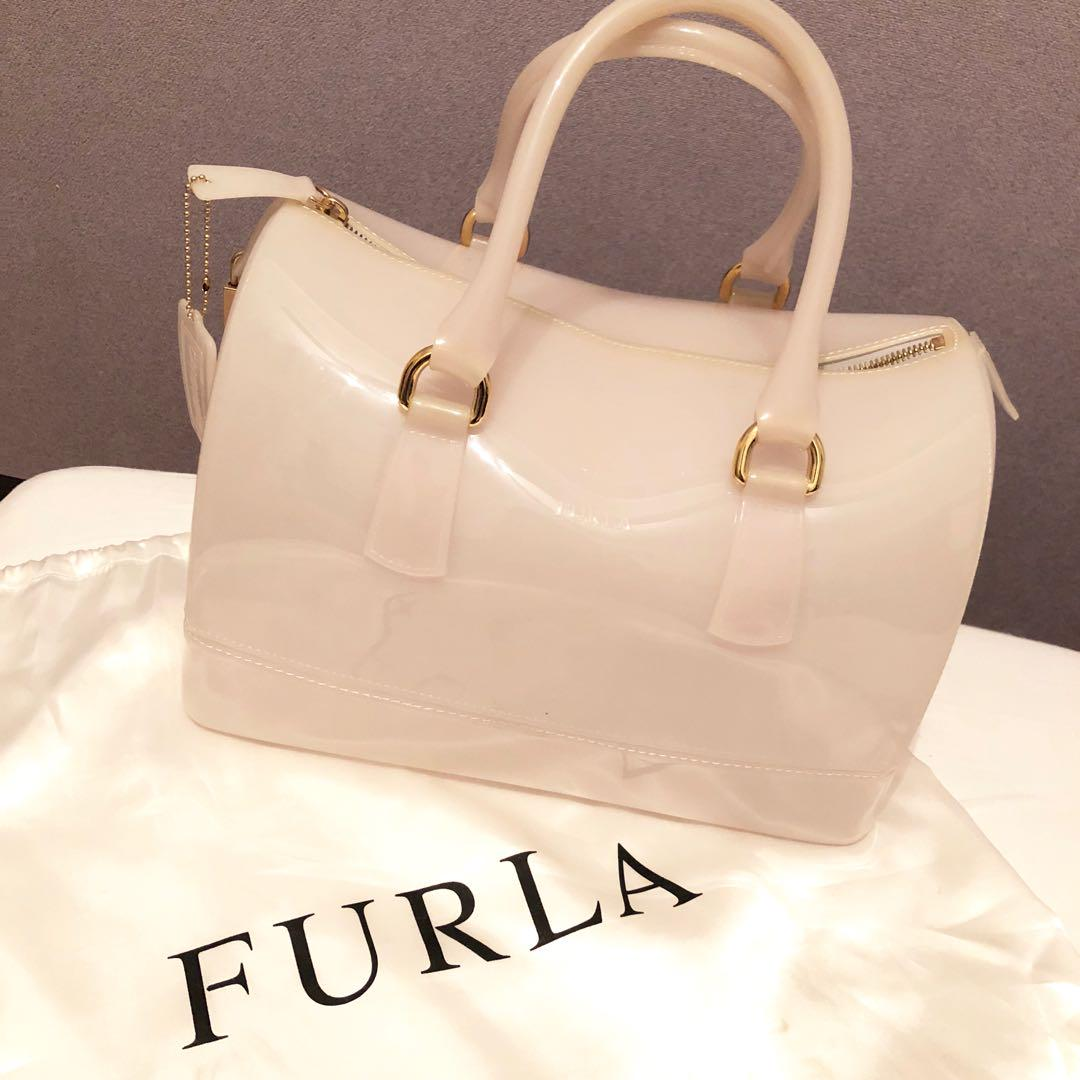 ba000799e380 メルカリ - FURLA フルラ キャンディバッグ 白 ホワイト 【ハンドバッグ ...