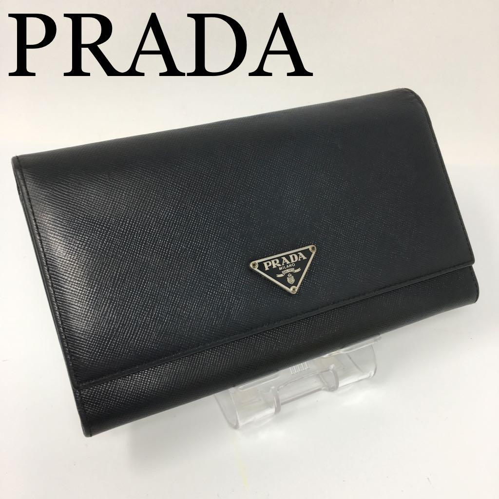 4746542fabee メルカリ - PRADA プラダ 長財布 サフィアーノレザー 正規品 良品 メンズ ...