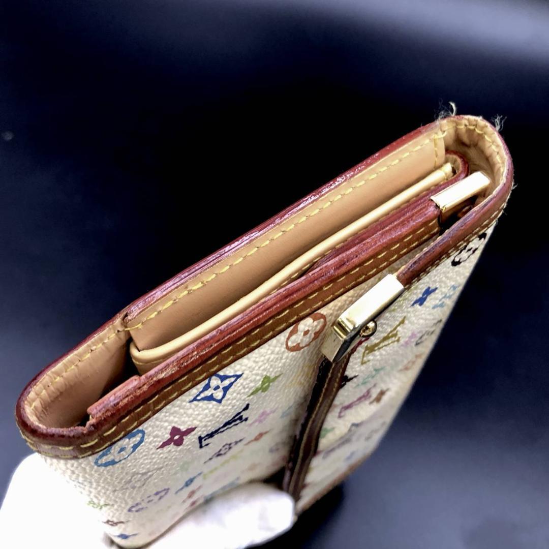 美品.ルイヴィトン.マルチカラー.三つ折り.長財布.M92659