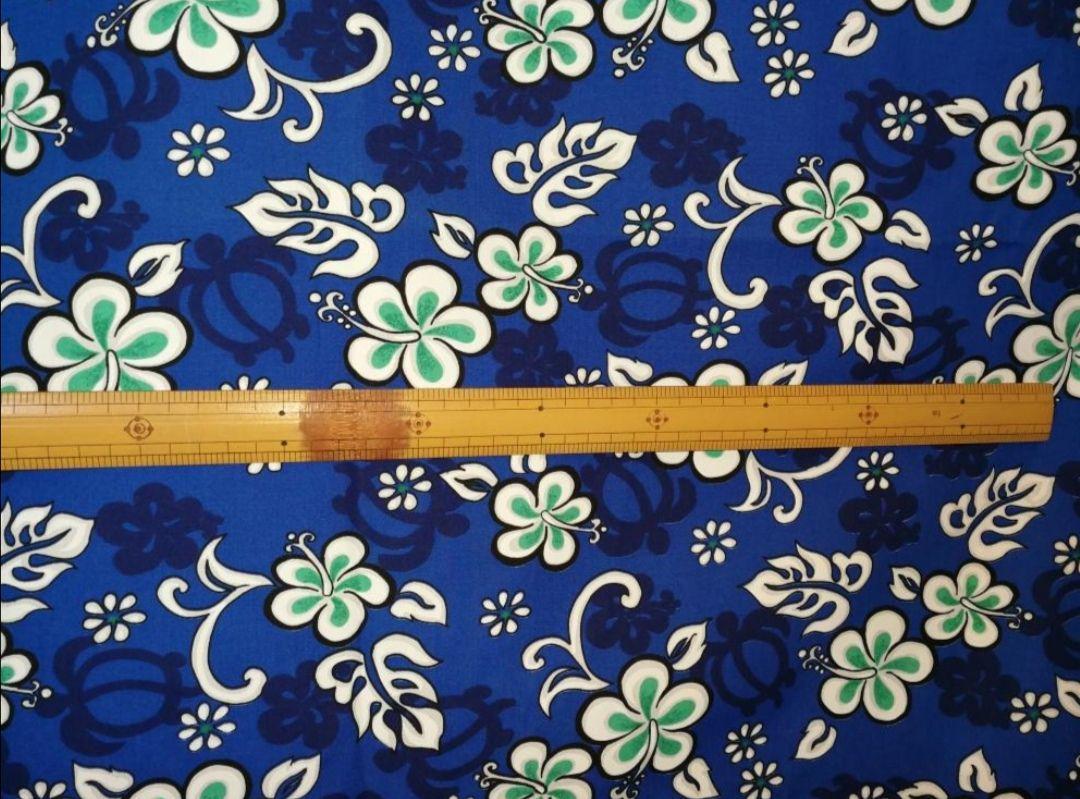 メルカリ ハワイアンファブリック 端切れ デッドストック ホヌ小柄 50cmカット 生地 糸 1 500 中古や未使用のフリマ