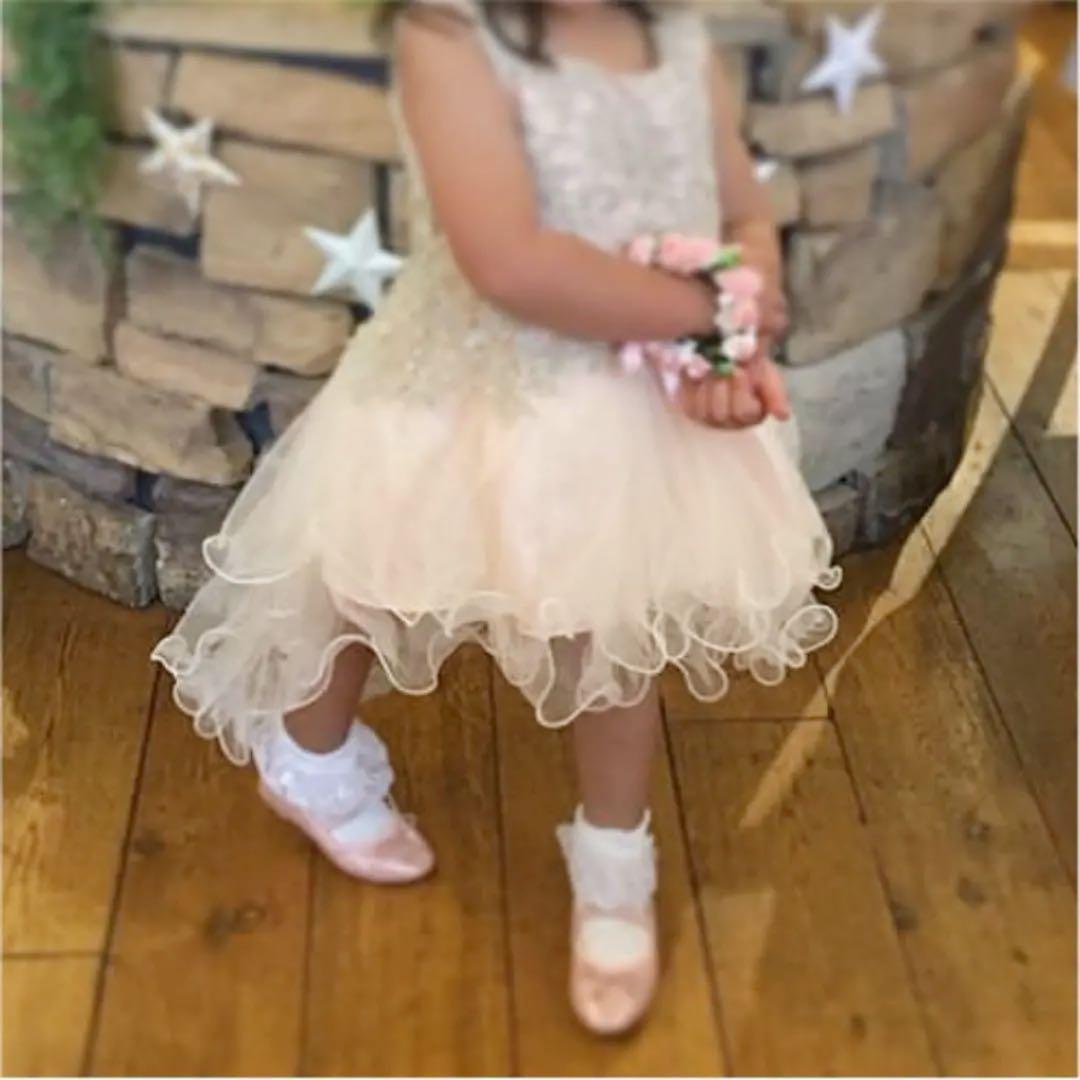 キッズ ドレス 女の子 リングガール 結婚式 ピンク 100cm(¥2,399) , メルカリ スマホでかんたん フリマアプリ