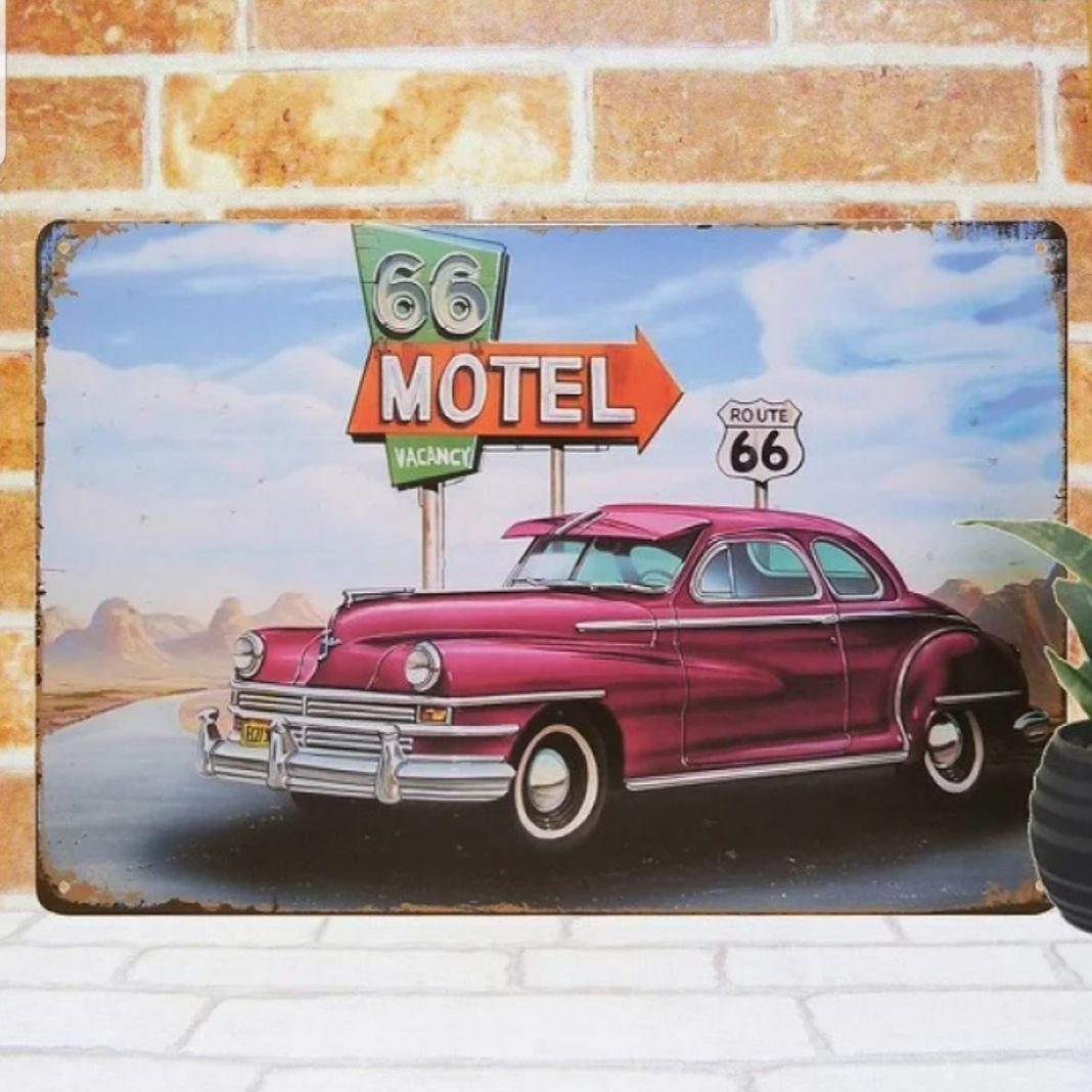 メルカリ デザイン看板 ルート66 シボレー コルベット紫 1000種類れんと アメ車 インテリア小物 1 090 中古や未使用のフリマ