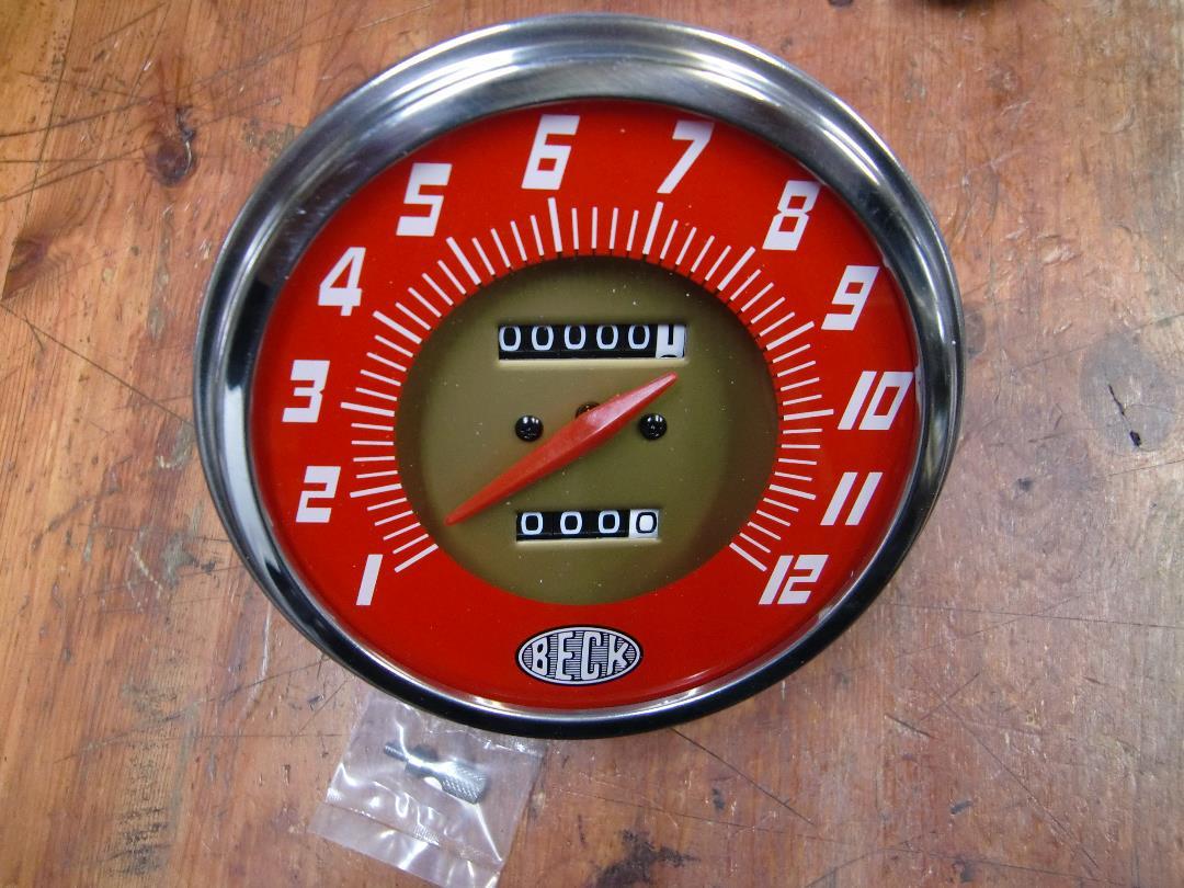 V-Twin 39-0993 Replica Speedometer with 2:1 Ratio