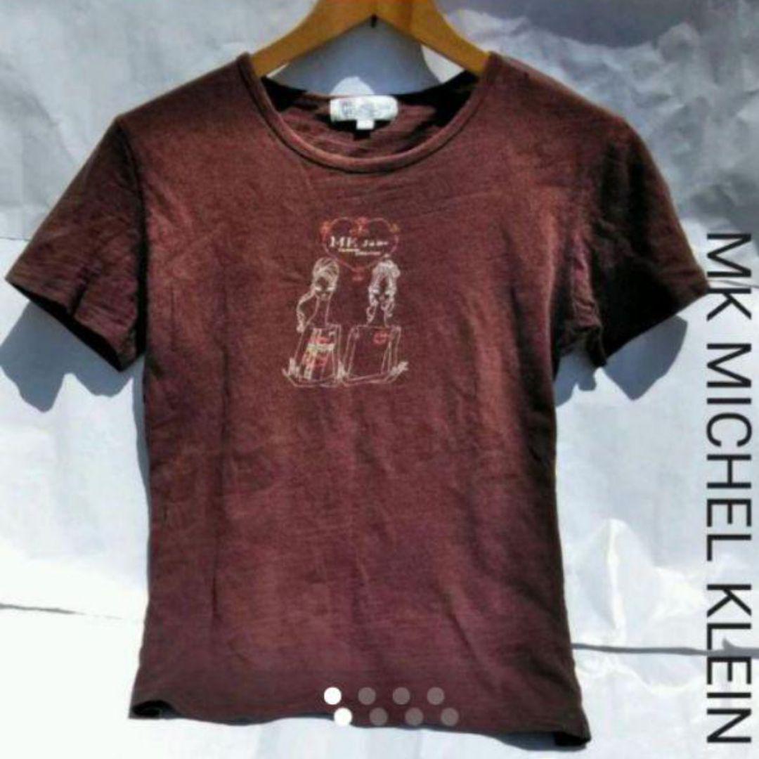 4fb8e8896e39 メルカリ - MK MICHEL KLEIN ブラウンTシャツ 【Tシャツ/カットソー(半袖 ...