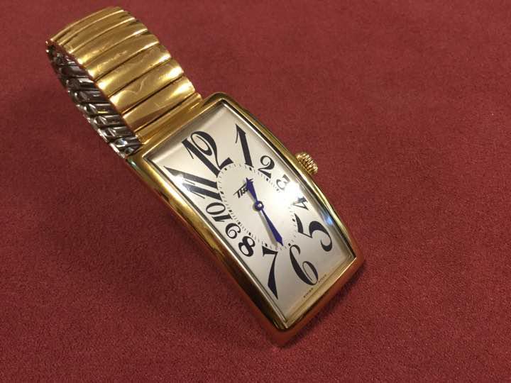 new arrival 34b6d 54b0a 腕時計 ティソ TISSOT バナナウォッチ クォーツ メンズ(¥11,000) - メルカリ スマホでかんたん フリマアプリ