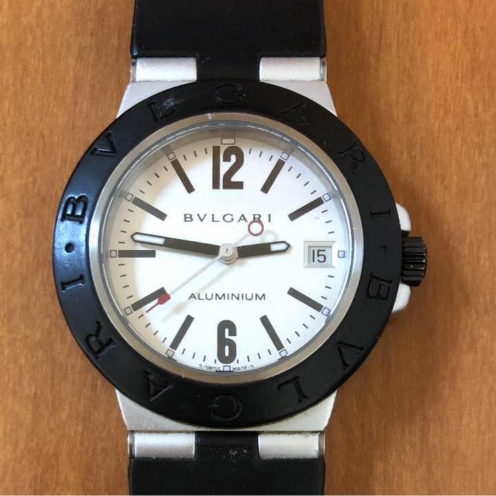 hot sale online 53705 dfec3 値下げ!ブルガリ アルミニウム メンズ腕時計(¥ 30,000) - メルカリ スマホでかんたん フリマアプリ