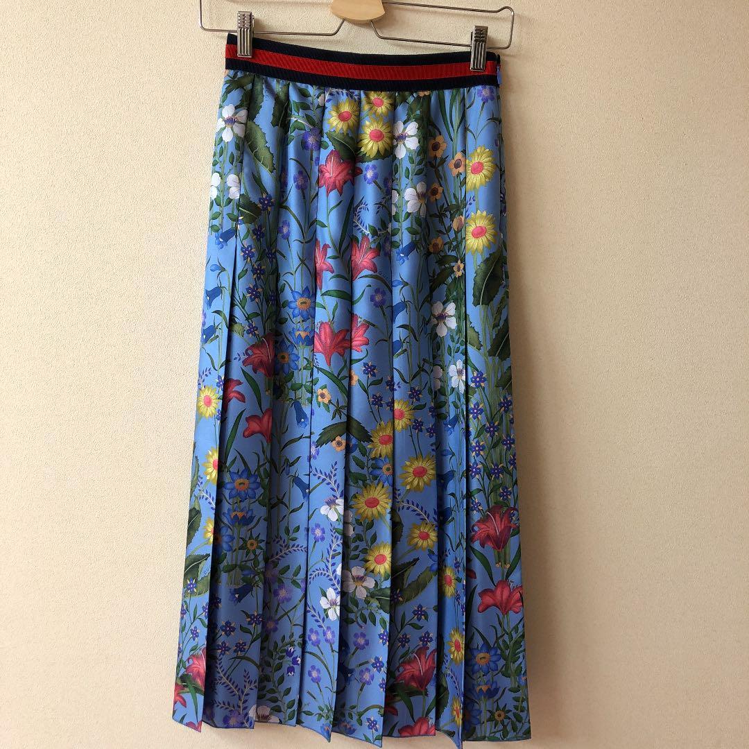 size 40 0ebb8 b4f44 GUCCI フローラ 花柄 ロングスカート 2017AW(¥39,900) - メルカリ スマホでかんたん フリマアプリ