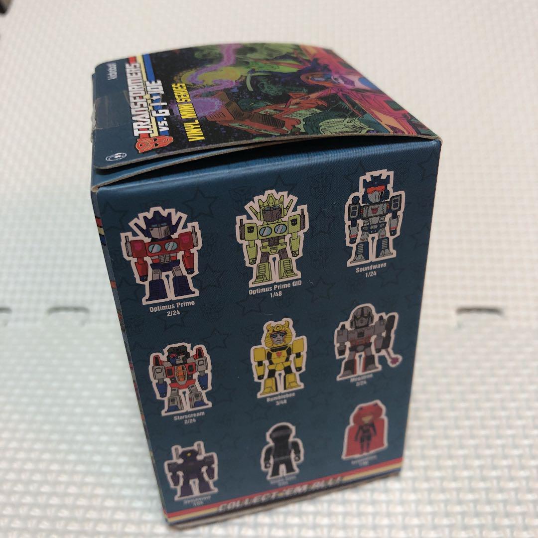 Kidrobot Transformers Vs GI Joe Vinyle Mini Series Figure Optimus Prime GID 1//48