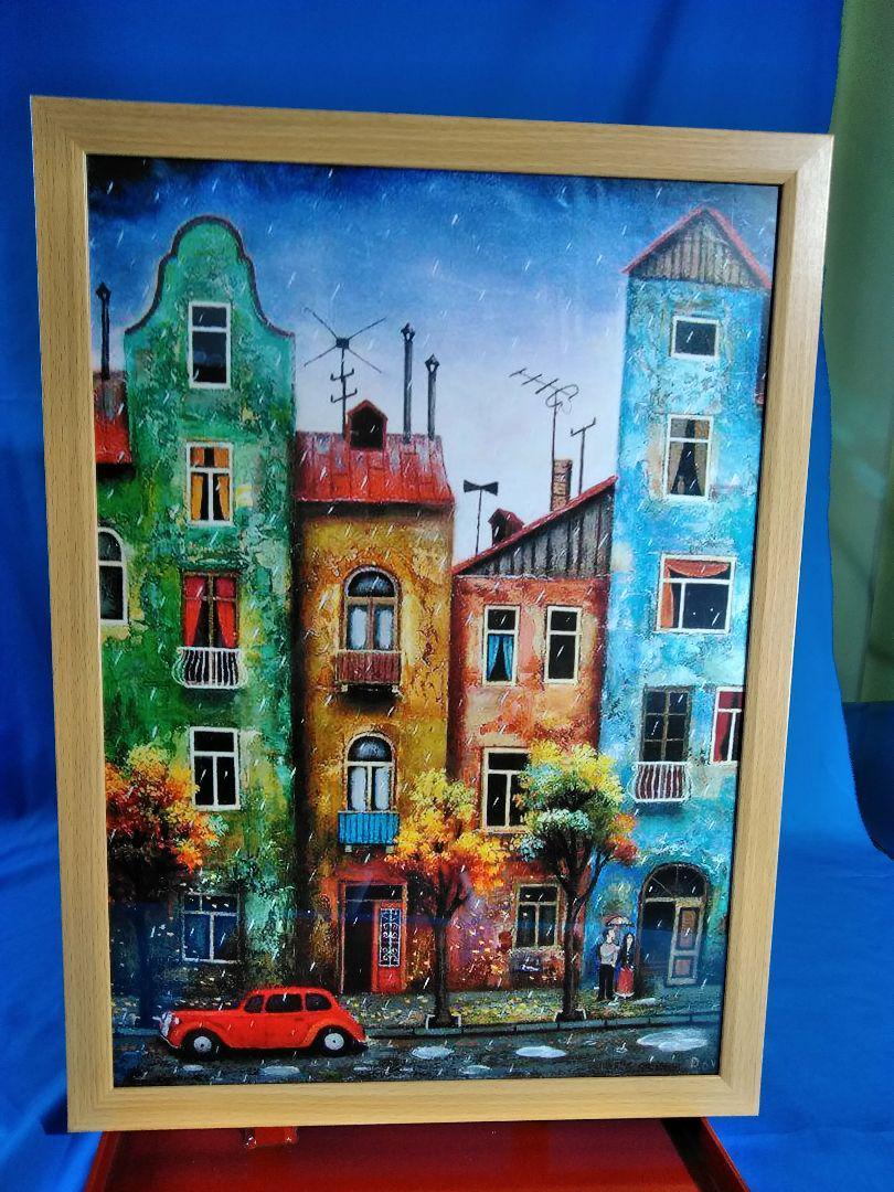 絵画写真 下町の建物と人々の風景(¥3,100) , メルカリ スマホでかんたん フリマアプリ