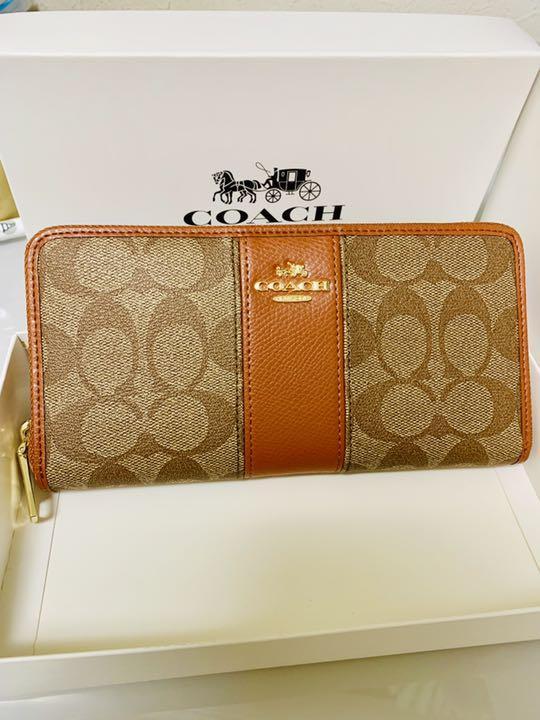on sale c3e43 88c56 COACH コーチ 長財布 可愛いブラウンです! レディース ブランド(¥11,000) - メルカリ スマホでかんたん フリマアプリ