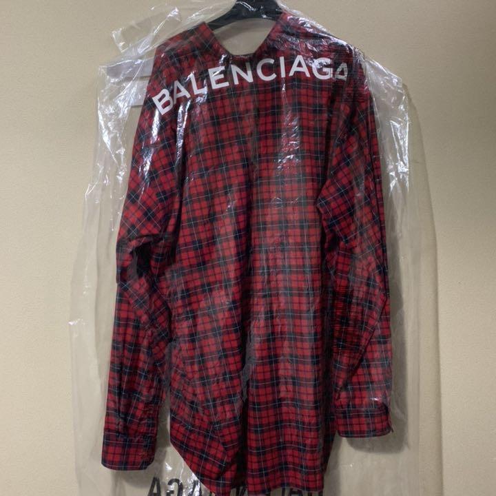 online store d7dcb d87f9 BALENCIAGA チェックシャツ 赤 「確実正規品」(¥90,000) - メルカリ スマホでかんたん フリマアプリ