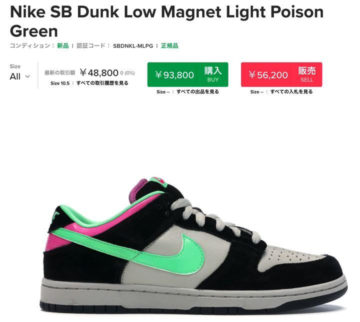 DUNK SB low pro ナイキ NIKE POISON