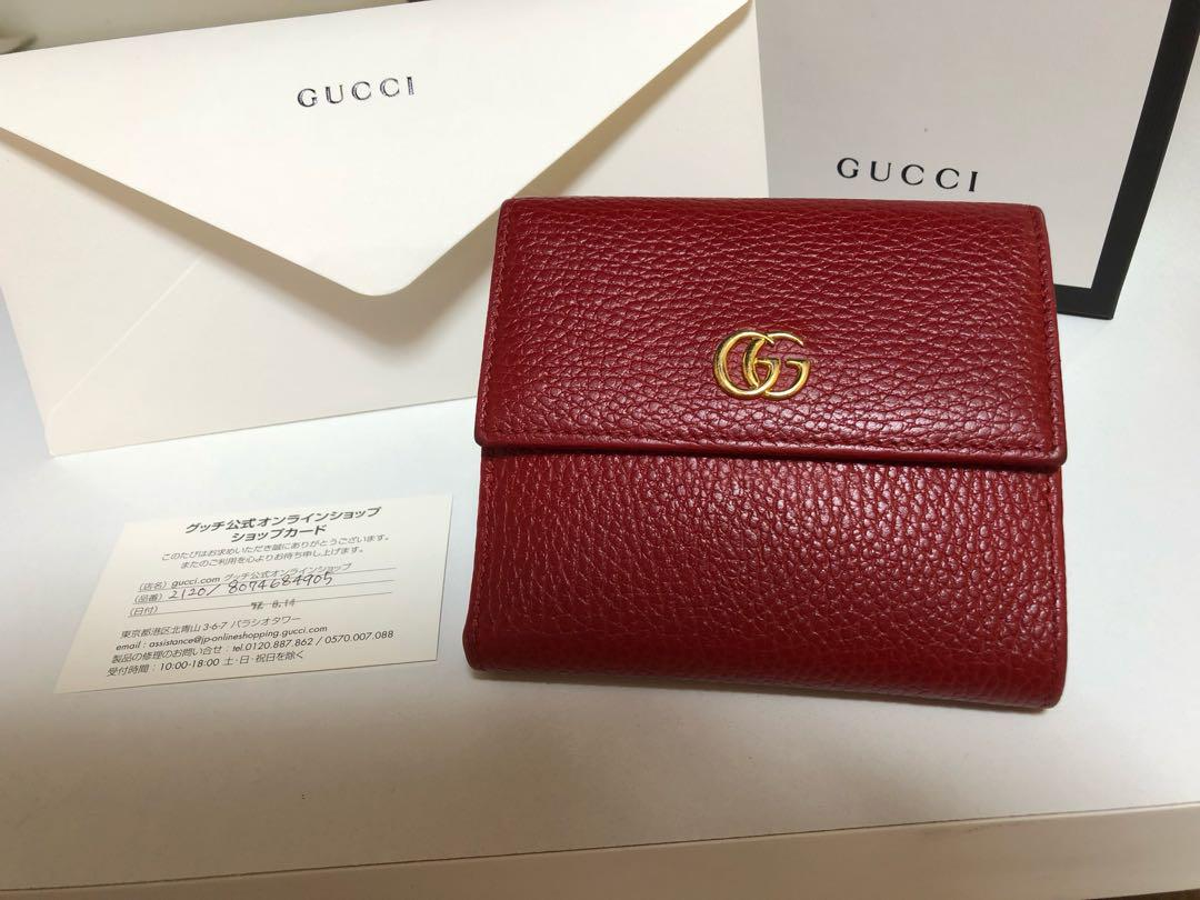 the latest 4bf82 1a9af GUCCI プチマーモント レザー フレンチフラップウォレット(¥42,000) - メルカリ スマホでかんたん フリマアプリ