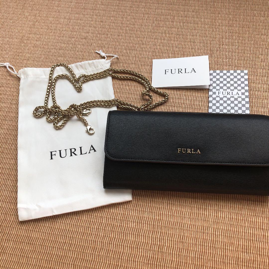 d80110b7171c メルカリ - FURLA チェーンウォレット 【折り財布】 (¥28,499) 中古や未使用 ...