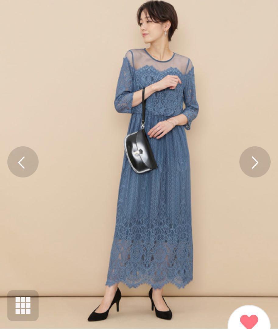 17483d7934a1e メルカリ - アダムエロペ チュール×パネルレースドレス ワンピース ...