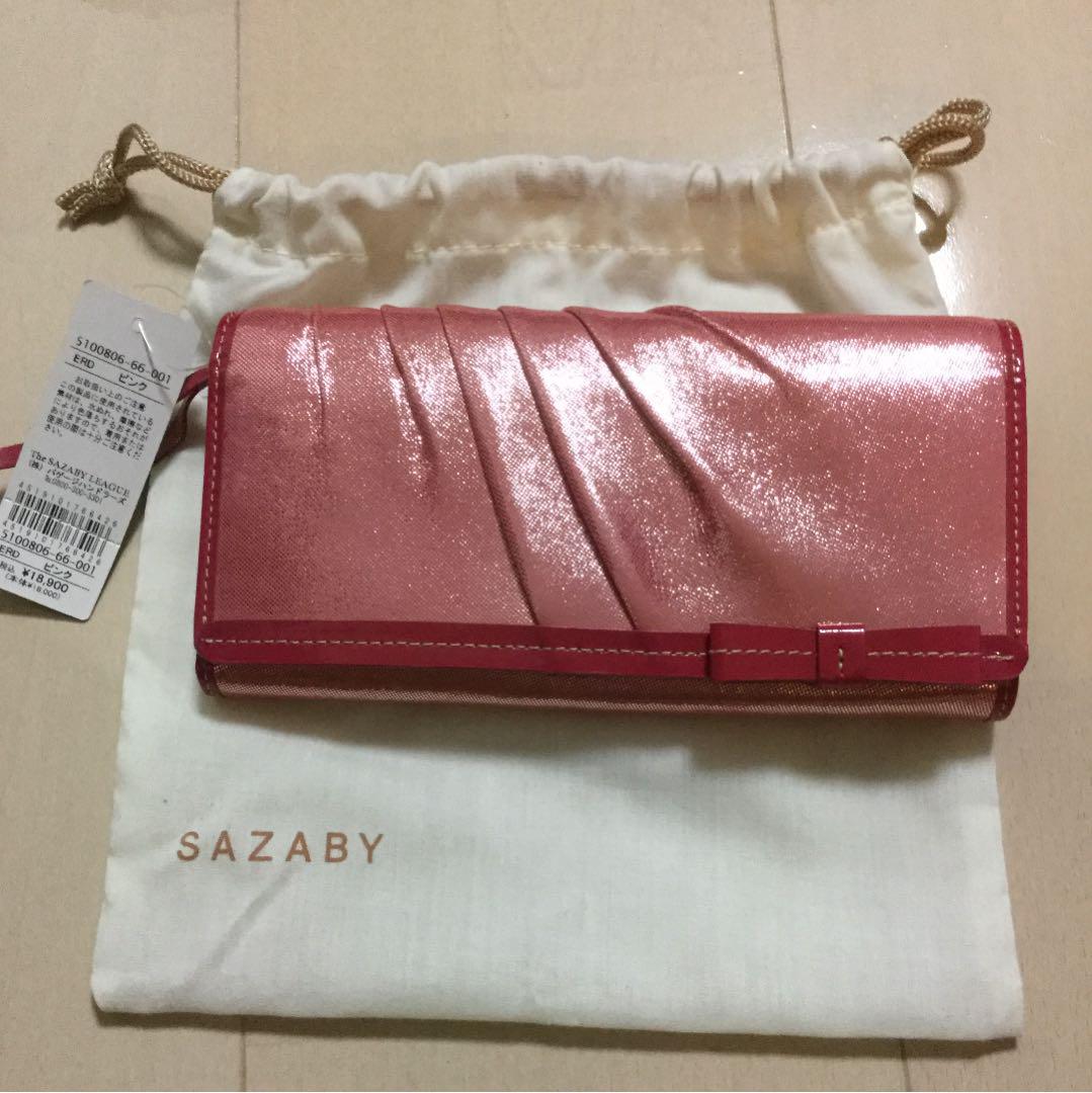 aba393c3762f メルカリ - SAZABY(サザビー) 長財布 ラメピンク 【サザビー】 (¥4,600 ...