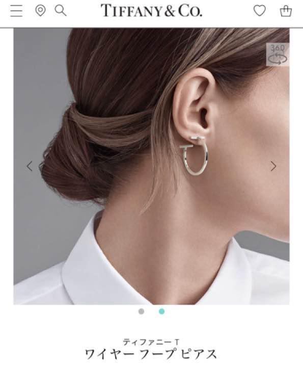 newest collection 45af5 94996 ティファニー ワイヤー フープ ピアス 片耳 新品(¥15,600) - メルカリ スマホでかんたん フリマアプリ