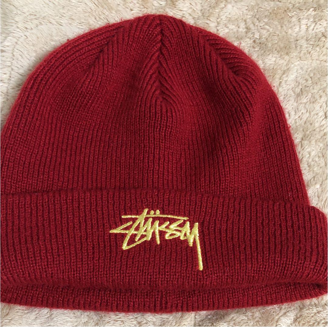 53a5b920e0f45 メルカリ - stussy ニット帽 赤 【ニットキャップ/ビーニー】 (¥2,000 ...