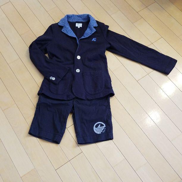 9f725a2f7184f メルカリ - ARMANI JUNIOR ジャケット パンツ8~6歳  ジャケット 上着 ...