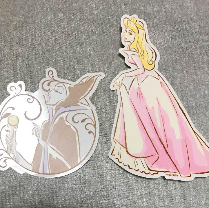 ディズニー プリンセス 眠れる森の美女 オーロラ 手書き風 イラスト ステッカー