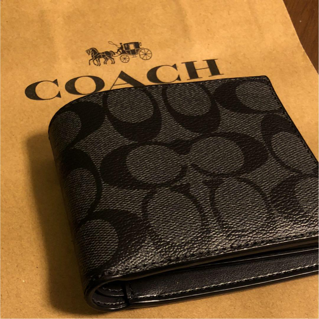 buy online ade13 97228 COACH コーチ 財布 二つ折り メンズ レディース(¥7,000) - メルカリ スマホでかんたん フリマアプリ