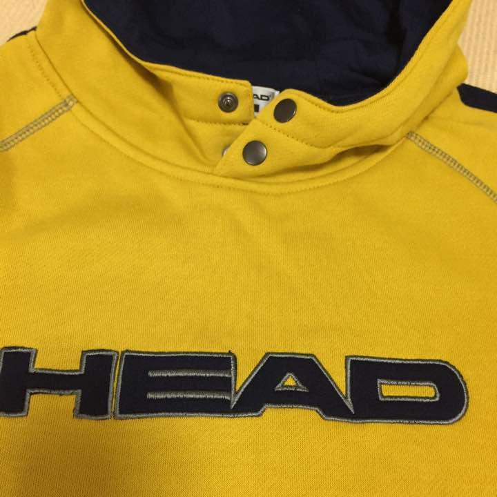 6c0579b386c98 メルカリ - HEAD トレーナー フード 男の子 裏起毛 からし色 140 ...