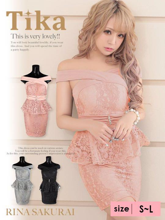 Tika オフショル ペプラムドレス(¥ 3,500) , メルカリ スマホでかんたん フリマアプリ