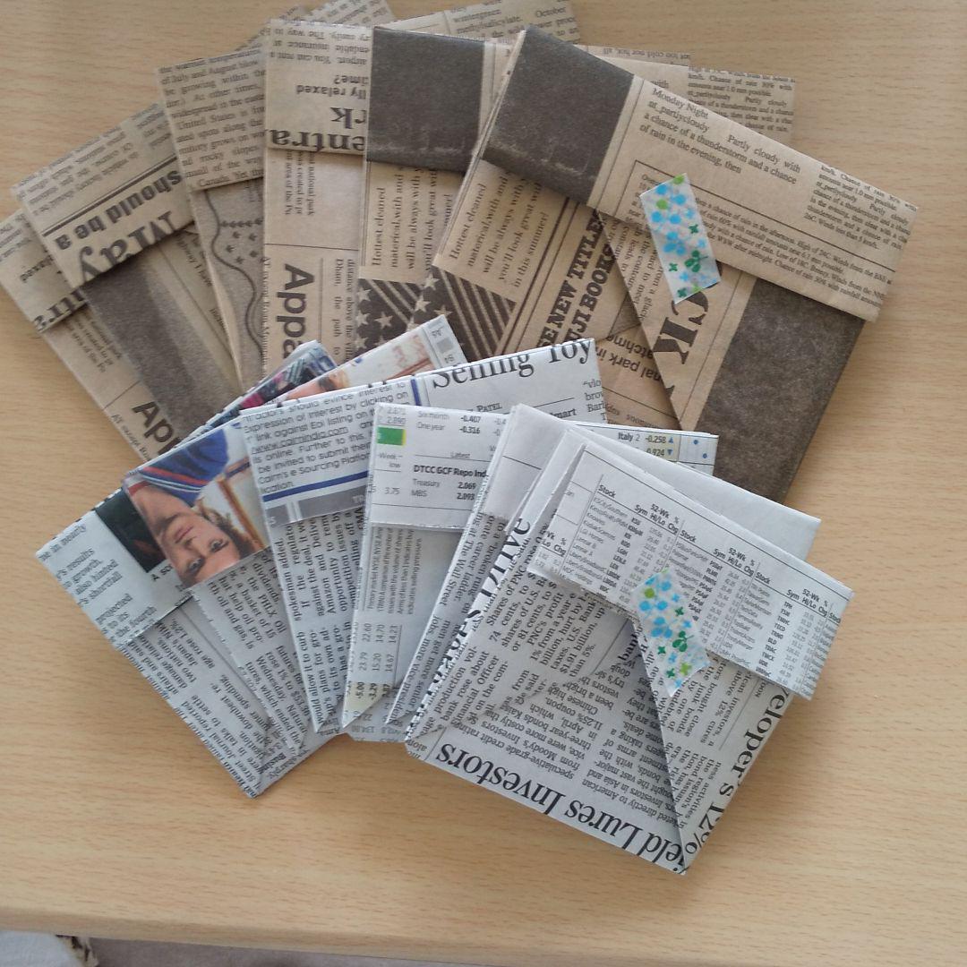 方 折り 新聞紙 ゴミ箱