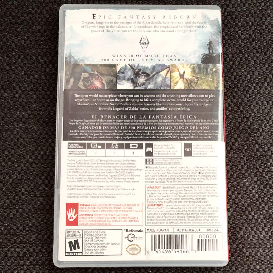 SKYRIM Nintendo Switch 北米版(¥4,500) - メルカリ スマホでかんたん フリマアプリ