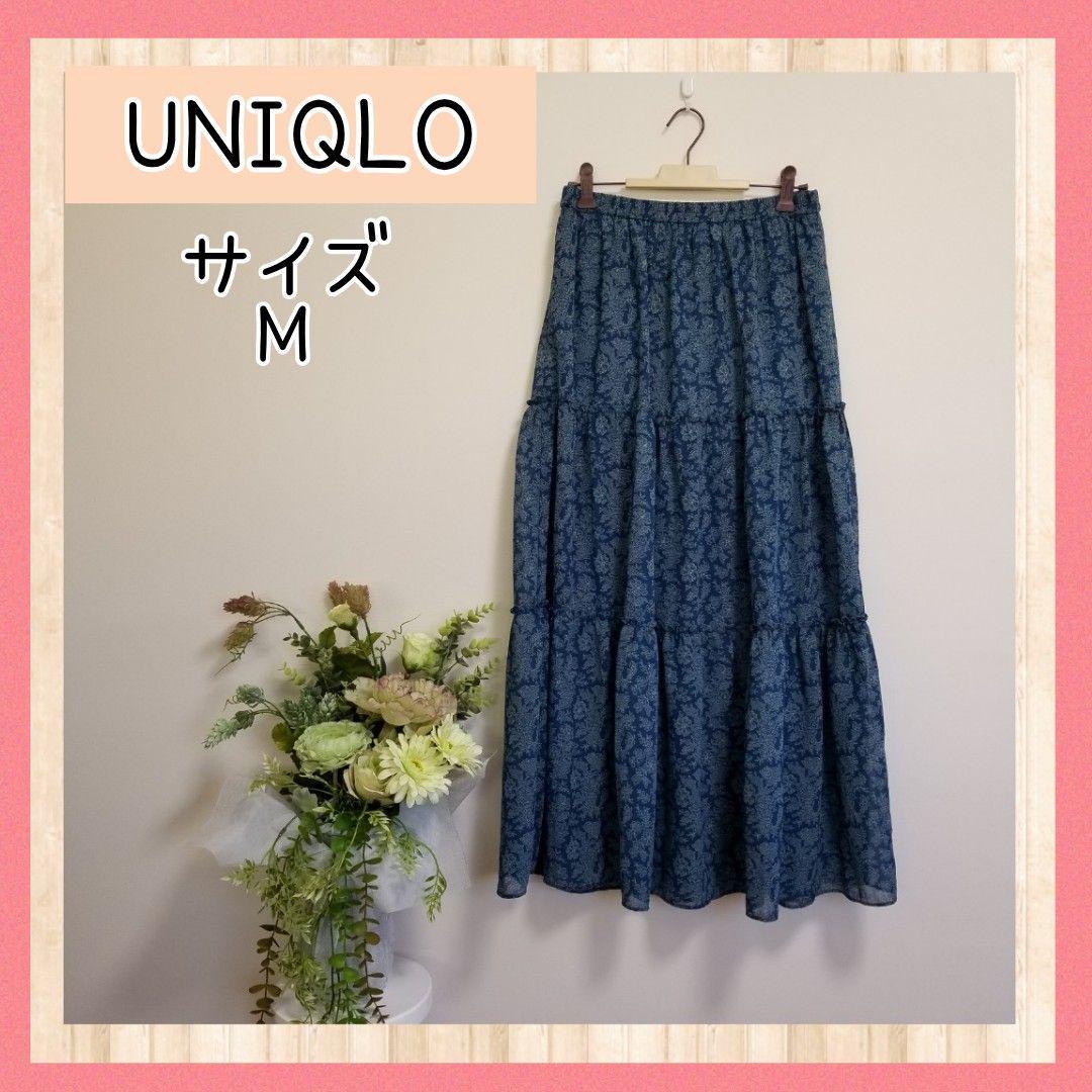 花 スカート ユニクロ 柄 スカート