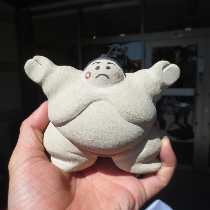 メルカリ - お相撲さん 石の置物 石 関取 あんこ型 台石付き (¥14,000 ...