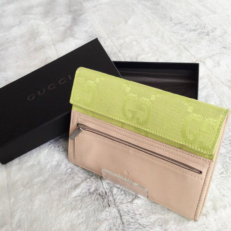 quality design ce1fb c6634 GUCCI グッチ 三つ折り 財布 GG柄 黄色(¥10,000) - メルカリ スマホでかんたん フリマアプリ