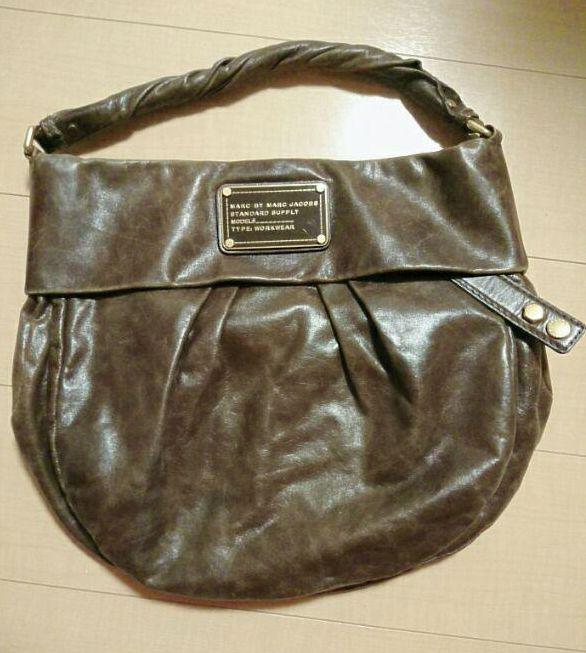 ae4c3c10f5dc メルカリ - MARC BY MARC JACOBS バッグ レザー 茶色 【ハンドバッグ ...