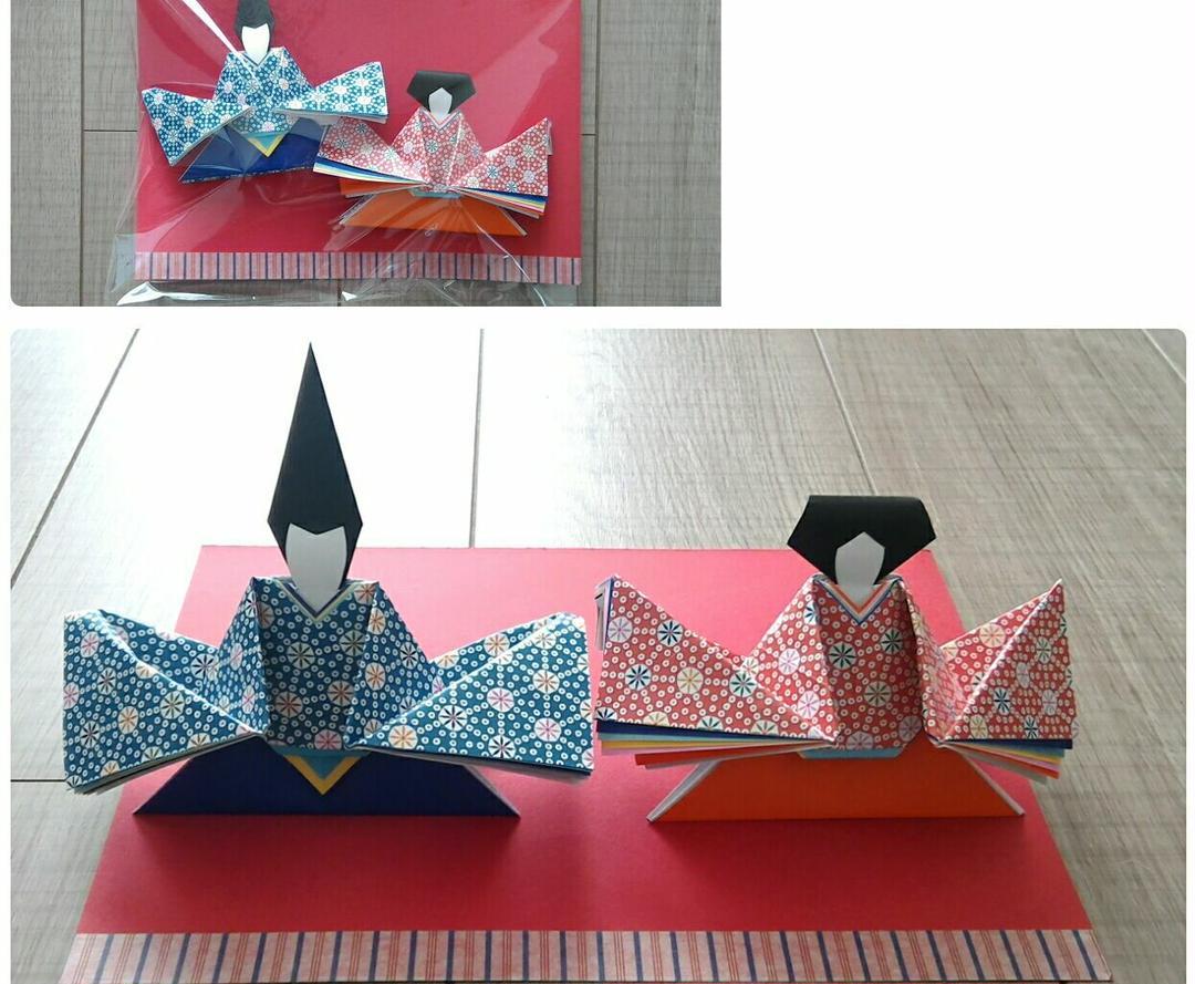 折り紙 雛人形