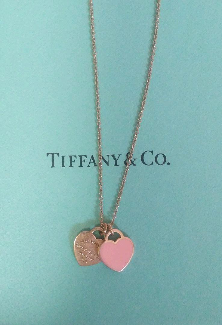 Tiffany Co Return To Heart Pendant Necklace Pink Ebay