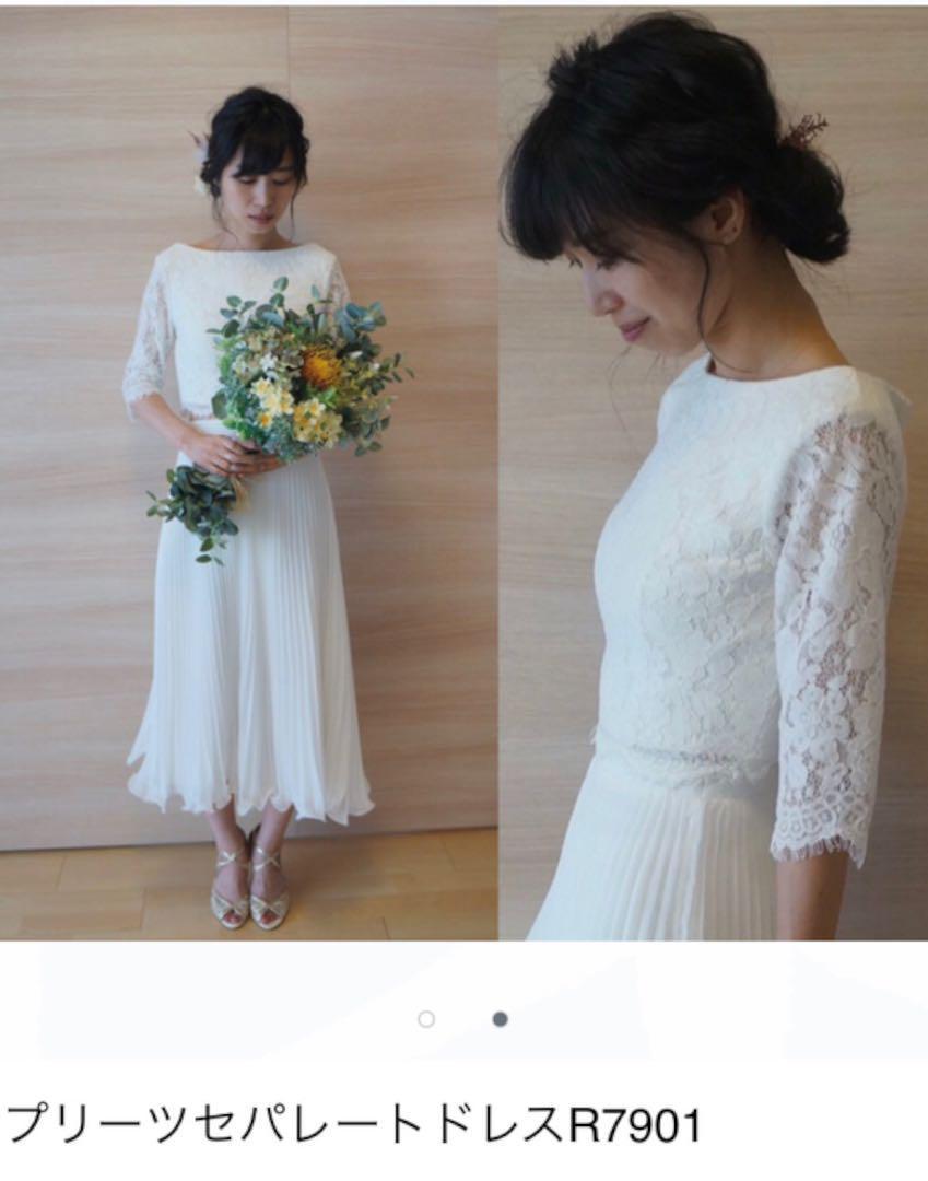 af44f9f77d7 メルカリ - みんなのドレス プリーツセパレートドレス 【ウェディング ...