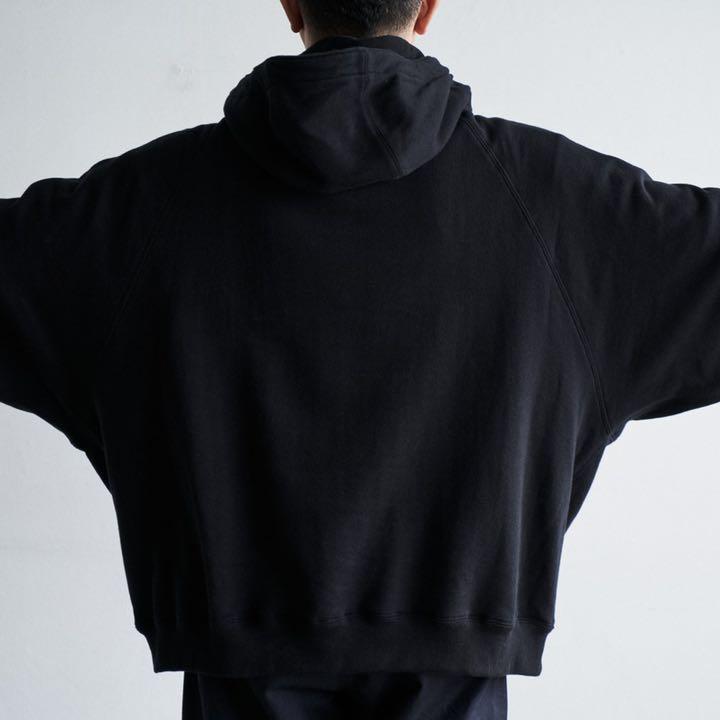 新品 Fresh Service SWEAT ANORAK PARKA 黒 L