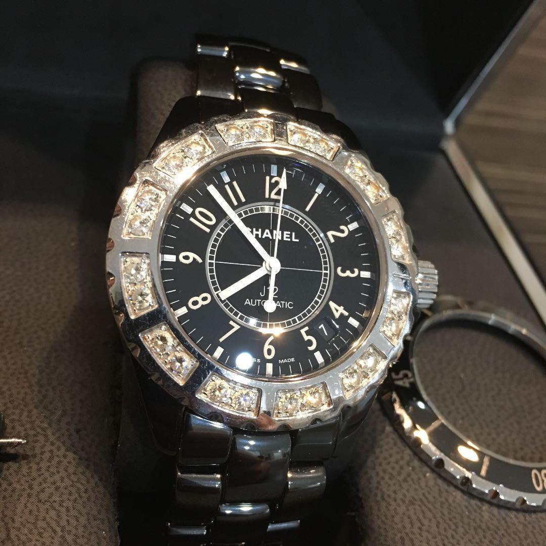 new styles 99ddf 85b5c 美品 大粒ダイヤ CHANEL J12 38ミリ 腕時計 シャネル(¥385,000) - メルカリ スマホでかんたん フリマアプリ